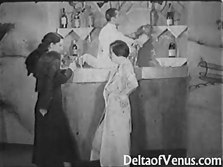 Vintage Porn from the 1930s - Girl-Girl-Guy Threesome
